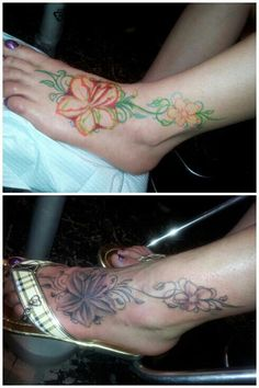 Lilly flower tat