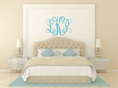Monogram+Wall++Decal+++Children+Wall+Decal++Teen+by+LucyLews,+$12.00