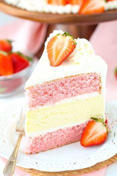 STRAWBERRIES AND CREAM CHEESECAKE CAKEReally nice recipes. Every  Mein Blog: Alles rund um Genuss & Geschmack  Kochen Backen Braten Vorspeisen Mains & Desserts!