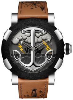 Romain Jerome Tattoo DNA Black Yellow Watch with Yellow Lightning & by Romain Jerome, Dream Watches, Fine Watches, Cool Watches, Men's Watches, Unique Watches, Wrist Watches, Le Sniper, Latest Watches