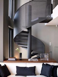 Metal mesh circular stair case
