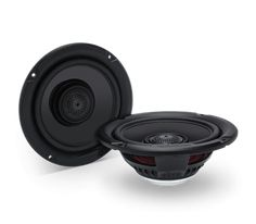 The TMS65 is a full range coaxial speaker designed to fit the fairing speaker locations of the 2014+ model year Harley-Davison® Motorcycles. It features a Neodymium motor structure driving a co-molded, reinforced polypropylene cone with Santoprene surround. It also features an ultra-efficient 25mm dome tweeter with integrated phase plug and is made water/weather resistant with the addition of a Santoprene front isolation spider connecting between the tweeter housing and cone assembly. The…