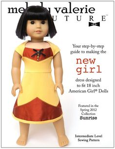 """FREE PATTERN. TODAY ONLY! NEW GIRL DRESS 18"""" DOLL CLOTHES"""