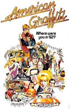A great American Graffiti movie poster! George Lucas pays homage to cruising, California car-culture, rock n' roll, and rambunctious teens. Ships fast. 11x17 inches. Need Poster Mounts..?