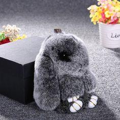 Брелок-игрушка «меховой кролик» на Алиэкспресс