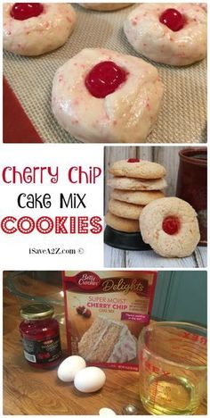 Mix Cookies Cherry Chip Cake Mix Cookies Recipe - these cookies come out so light and fluffy! They are DELISH!Cherry Chip Cake Mix Cookies Recipe - these cookies come out so light and fluffy! They are DELISH! Cake Mix Cookie Recipes, Chip Cookie Recipe, Easy Cheesecake Recipes, Chocolate Cookie Recipes, Cake Mixes, Biscuit Recipe, Brownie Cookies, Cake Mix Cookies, Cookies Et Biscuits