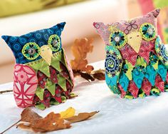 Patchwork Owls - Free Sewing Pattern- Sew Magazine