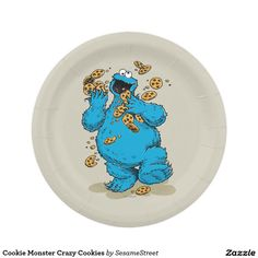 Shop Cookie Monster Crazy Cookies Paper Plate created by SesameStreet.  sc 1 st  Pinterest & Vintage Rose 90th Birthday Celebration Paper Plate 7 Inch Paper ...