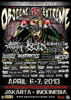 « Obscene Extreme Asia Festival on April 6-7, 2013 in Jakarta, Indonesia »