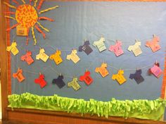 My first bulletin board. They each decorated a t-shirt that talked about their favorite thing to so during summer break!