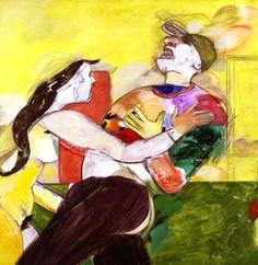 R.B. Kitaj Heart Attack, 1990 oil on canvas 48 1/2 x 48 1/2 private collection