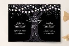 Garden Lights Wedding Invitations by Hooray Creative at minted.com