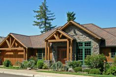 Great floor plan. Craftsman Style House Plan - 3 Beds 2.5 Baths 4435 Sq/Ft Plan #48-300 Exterior - Other Elevation - Houseplans.com