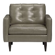 Would love this Crate & Barrel Petrie Leather Chair, in Putty if it weren't leather!