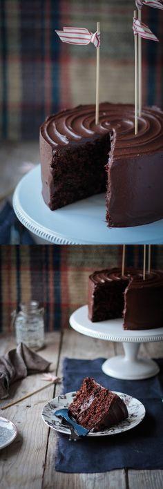 Dark chocolate carrot cake- better baking bible blog icing filling