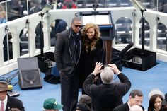 When she took this picture with Jay-Z for their refrigerator. | The 22 Most Fabulous Beyoncé Moments From The Inauguration