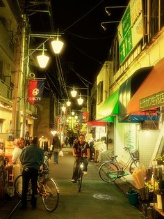 Night shot of a random narrow street in Tokyo. ;)