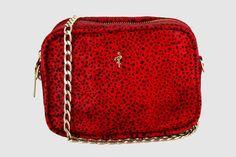 Minibandolera de leopardo rojo