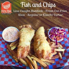 KIMCHI TARTAR SAUCE!! TMRO. From @relishhrm  Friday Menu Item!!!! Come check out our fish and chips - Line caught haddock fresh cut fries and kimchi tartar sauce! Limited quantity see you tomorrow! #Fish #Chips #Kimchi #halifax #Halifaxnoise