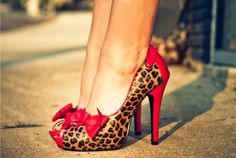 Two Things I love: anything red and leopard print!