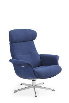 Conform Timeout Relaxsessel, X Fuß Aluminium, In Stoff Blau, Sitzschale  Vollgepolstert