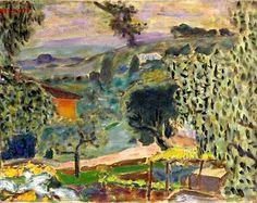 bofransson:    Paysage du Cannet - Pierre Bonnard