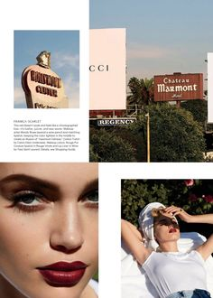 Model Staz Lindes lounges in the sun for the beauty editorial