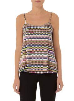 Multi Colour Zig Zag Cami - Tops & T-Shirts - Clothing - Dorothy Perkins