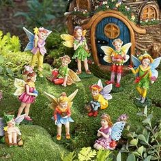 Fairy set of 5 girls to go with fairy village at:  http://www.amazon.com/Nature-Themed-Fairies-Set-Girl/dp/B005OLFE38/ref=pd_bxgy_lg_img_y