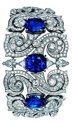 TS Cartier jewelry bracelet – platinum, sapphire, diamond