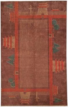 Chinese Deco rug - Vintage Rug - BB4803 by Doris Leslie Blau