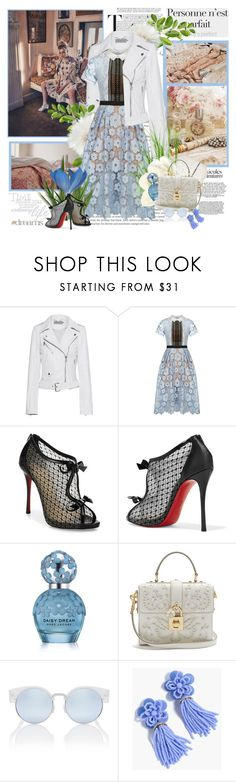 """"""",,Everything has beauty, but not everyone sees it.-Confucius"""""""" by purplecherryblossom ❤ liked on Polyvore featuring Aime, Calvin Klein Jeans, self-portrait, Christian Louboutin, Marc Jacobs, Dolce&Gabbana, J.Crew and Letter2Word"""