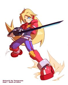 Request for Soul-Of-Zero by Tomycase on DeviantArt Character Art, Character Design, Character Ideas, Inti Creates, Mega Man 2, Zero Wallpaper, Heroes United, Megaman Series, Robot Art