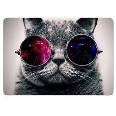 Katze+mit+Kosmos-Brille+Design+Ganzkörper-Schutz-Kunststoffgehäuse+für+11-Zoll+/+13+Zoll+neue+Mac+Book+Luft+–+AUD+$+35.74