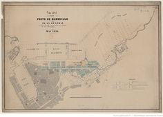 Marseille. - Société des ports de Marseille. Plan général des ports de Marseille et de leurs abords avec indication des divers projets présentés
