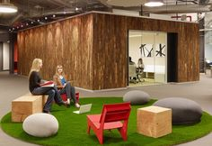 Created by architecture and interior design firm Blitz, check out Skype's North American headquarters in Palo Alto, California. Office Interior Design, Office Interiors, Interior Decorating, Office Designs, Office Ideas, Design Studio, Deco Design, House Design, Pixar Offices