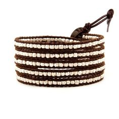 CHAN LUU ~ Sterling and Brown Leather Wrap