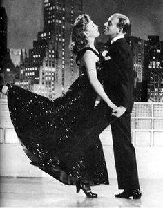 """Joan Leslie dances with Fred Astaire in """"The Sky's The Limit"""" (1943)"""