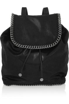 Stella McCartney | Falabella faux brushed-leather backpack | NET-A-PORTER.COM