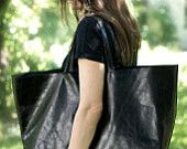 Black Oversized  Bag; etsy