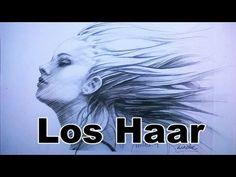 Hoe teken je Haar - Wapperend haar - YouTube