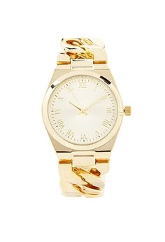 Chained Analog Watch   Forever 21 #f21accessorize