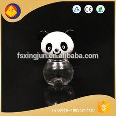 China new products wholesale 8ml empty nail polish decoration bottles with cute panda shape cap