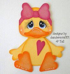 Duck with Bow Paper Piecing PreMade 4 Borders Scrapbook Album Diy Paper, Paper Art, Paper Crafts, Foam Crafts, Diy Crafts, Crafts For Kids, Arts And Crafts, Paper Piecing Patterns, Ornaments Design