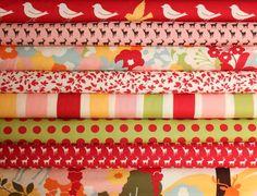 Oh Deer half yard bundle--8 pieces---4 yards total--Momo for Moda Fabrics. $40.00, via Etsy.