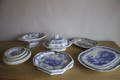 Antiques Atlas - Set Of Minton Chinese Marine Blue And White Decorative Accessories, Decorative Items, Blue And White China, Marine Blue, Plates And Bowls, Porcelain, Chinese, Ceramics, Antiques