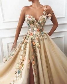 Luxury Floral A-Line Prom Dress,A-Line Sweetheart Evening Dress,Prom Party Dress with Side sold by muttie dresses. Shop more products from muttie dresses on Storenvy, the home of independent small businesses all over the world. Elegant Dresses, Pretty Dresses, Casual Dresses, Elegant Ball Gowns, Classy Gowns, Formal Dresses, Long Gown Elegant, Banquet Dresses, Ball Dresses