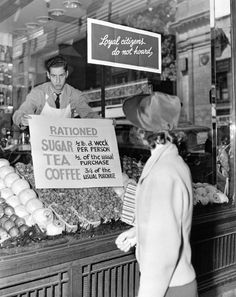 All of the countries involved in World War II had some kind of rationing program that affected every citizen.