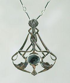 Nouveau Vintage Sterling Silver Cross Pendentif Pierre de naissance novembre Citrine GOTHIQUE//CELTIQUE