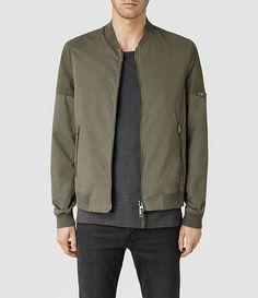 81e350f31f720e Mens Nero Bomber Jacket (Dark Khaki) - product image alt text 1 Brown  Bomber Jacket, Men s Coats